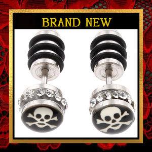 Jolly Roger Skull Crossbone Earrings #471